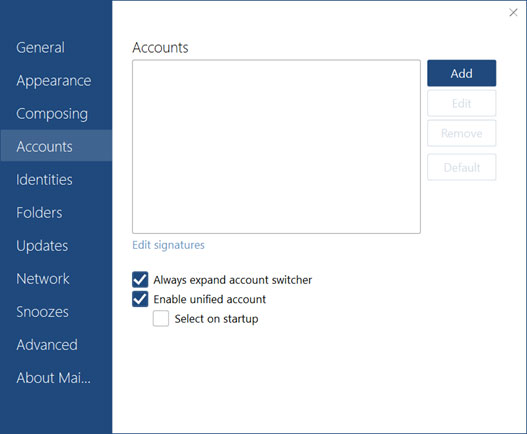 Setup SUREWEST.NET email account on your MailBird Lite Step 2