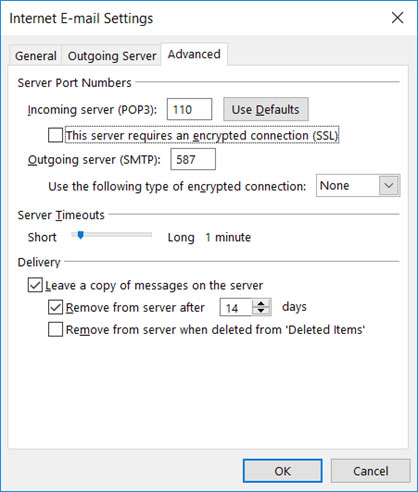 Setup SUREWEST.NET email account on your Outlook 2013 Manual Step 6