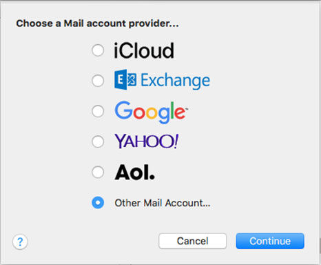 Setup FAST-MAIL.ORG email account on your Apple Mail 2