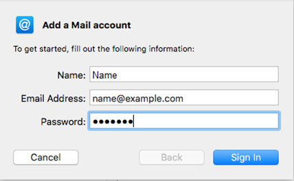Setup EMAILCORNER.NET email account on your Apple Mail 3