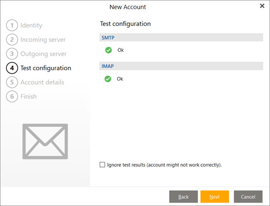 Setup EMAIL.IT email account on your eMClient Step 6