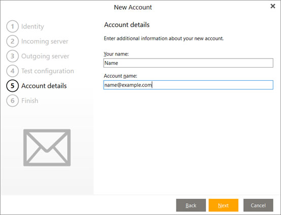Setup FAST-MAIL.ORG email account on your eMClient Step 7