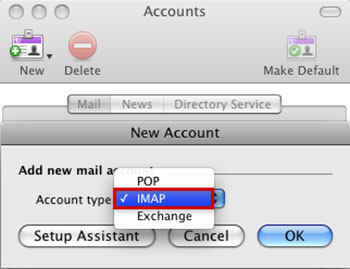 Setup FAST-MAIL.ORG email account on your Entourage Step 3