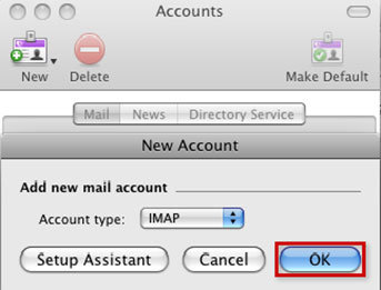 Setup AIRMAIL.NET email account on your Entourage Step 4