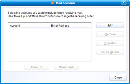 Setup T-COM.VZ email account on your IncrediMail Step 2