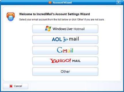 Setup EMAILCORNER.NET email account on your IncrediMail Step 3