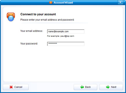 Setup YANDEX.KZ email account on your IncrediMail Step 4