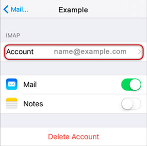 Setup EMAILCORNER.NET email account on your iPhone Step 11