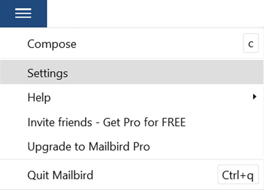 Setup T-COM.VZ email account on your MailBird Lite Step 1
