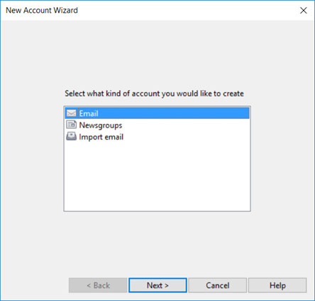 Setup T-COM.VZ email account on your Opera Mail Step 1