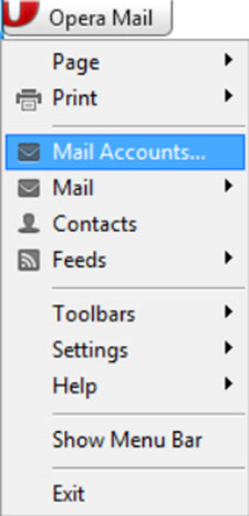 Setup EMAILCORNER.NET email account on your Opera Mail Step 5