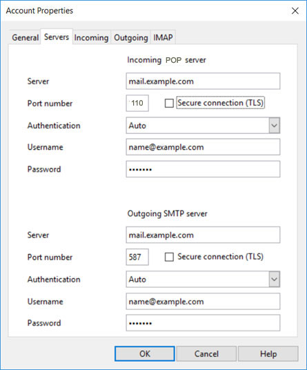 GODADDY COM email server settings - POP and SMTP