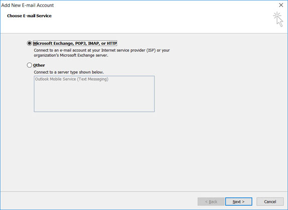 Setup WIND GREECE email account on your Outlook 2007 Manual Step 3
