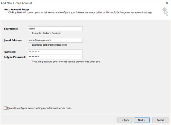 Setup T-COM.VZ email account on your Outlook 2007 Mail Step 4