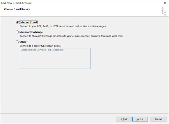 Setup FAST-MAIL.ORG email account on your Outlook 2010 Manual Step 4