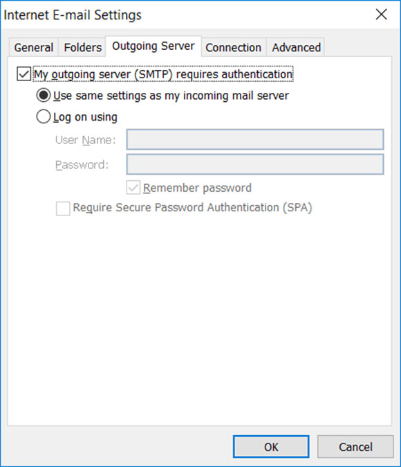 Setup FAST-MAIL.ORG email account on your Outlook 2010 Manual Step 6