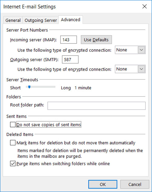 Setup EUFAULA.RR.COM` email account on your Outlook 2010 Manual Step 8