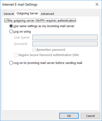 Setup EUFAULA.RR.COM email account on your Outlook 2013 Manual Step 5