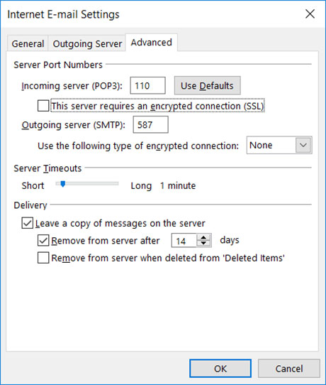 Setup EMAILCORNER.NET email account on your Outlook 2016 Manual Step 6 - Method 1