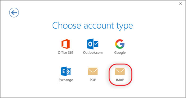 Setup WIND GREECE email account on your Outlook 2016 Manual Step 3 - Method 2
